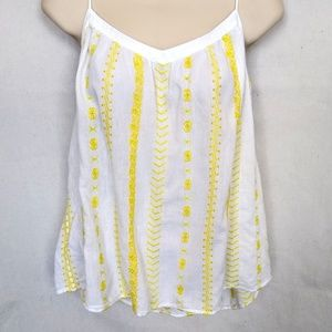 LOFT Bohemian Embroidered Cool Top